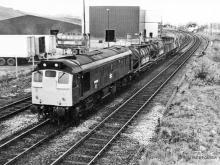 25082 heads (most likely) for Dalmuir, on 2 May 1980.  The loco was cut up in January 1983 at Swindon.