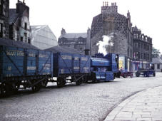 Bon Accord propels two wagons for the Gas Works along Miller Street, 14 June 1962