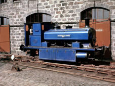 Aberdeen Gas Works No. 3 on site 8 July 1963, this loco is preserved at the Grampian Transport Museum Alford