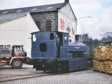 21 Oct 1964 Aberdeen Gas Works no. 3 leaves Church St. and starts its journey along the Victoria Docks to get more coal