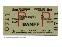 Tillynaught - Banff ticket issued 20 June 1964