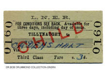 LNER Tillynaught to Ordens Halt, Child 3rd Class issued 11 Nov 1963