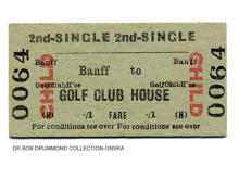 BR Banff to Golf Club House, child 2nd class single, issued 8 Jun 1959