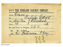 Highland Railway, Goods for Ballater.