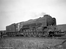 60160 Auld Reekie not quite living up to its name at Ferryhill Shed, 5 Sep 1959