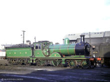 A glorious shot of Gordon Highlander on Ferryhill Shed Sep 1964