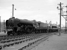 A2 A.H.Peppercorn and D8 Penyghent on Ferryhill Shed 16 July 1960,