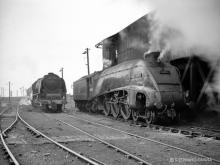 60004 and 46250 at Ferryhill 14 Jul 1962