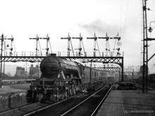 William Whitelaw arrives with a train from Edinburgh in January 1937