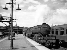 V2 60898 prepares to leave Aberdeen with the 3.30 postal on 19 June 1962