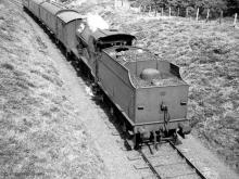 2P 40622 with the 1.44 pm Lossie to Elgin on 17 Aug 1960. The milepost is indistinct but is either MP3 or 3 and a half.