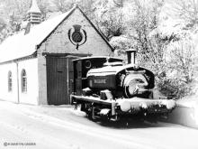 Dailuaine outside its shed at the eponymous single malt distillery in Charlestown of Aberlour on15 Feb 1969