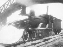 A D41 is seen at Gartly 4.15pm on the 28 Jan 1942 after clearing the line from Insch