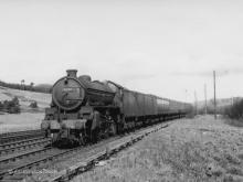 61308 on 9.30am Elgin to Aberdeen enters Cairnie Junction 31 May 1951