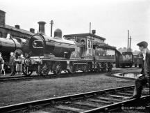 Gordon Highlander and City of Truro on display at Dawsholm Shed in this undated shot (probably around Sept 1959)