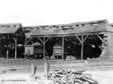 Kittybrewster shed on 31 Oct 1940 shortly after the air raid