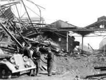 Kittybrewster on 21 April 1943 shortly after the air raid.
