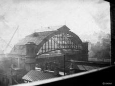 Old joint station north end being demolished, dated possibly 29 Oct 1913