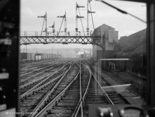 Ferryhill Box from rear of Battery Railcar 11 April 1960
