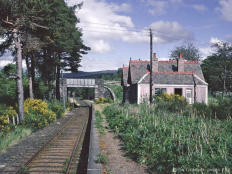 Advie Station in June 1968 looking south after closure