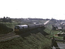 NB2 possibly D6138 or 6148 leaves Buckie with an Aberdeen service sometime towards the end of the coast line's life