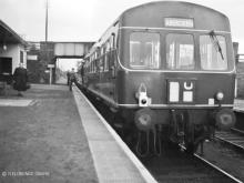 This Metropolitan Cammel unit looks brand new as it waits for a passenger or two at Culter in 1959