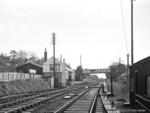 Culter Station, looking east on 2 Sep 1966, the last passenger train ran through here on 26 Feb 1966