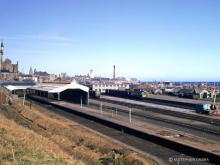 A re-engined NB type 2 waits to take a freight south from Fraserburgh in this late 60's shot.  One of the running-in boards is still in place, hopefully it found an enthusiastic claimant