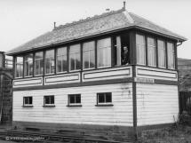 Fraserburgh box on 30 Sept 1965, the box closed on 27 June 1966.  The duty signalman is Jim Morrison, his son Ian is a GNSRA member.