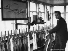 The interior of Fraserburgh signal box 30 Sept 1965 a few days before withdrawal of passenger services to Aberdeen.  The duty signalman is Jim Morrison, his son Ian is a GNSRA member.