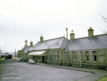 Inverurie Station, 10 Feb 1962, note the coach in the parcels platform where nowadays you can park your car,
