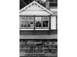 Kemnay Box was incorporated into the station buildings. Even by 1960 the station looked very smart indeed