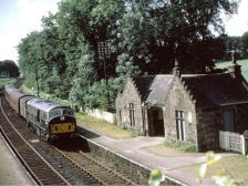 NB2 passing Kinaldie with an Elgin-Aberdeen train, 24 Jul 1964