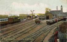 Postcard. View from west of station.  01/11/1905