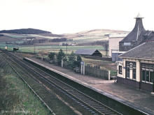 Knock looking north on 7 May 1966.  Note the use of flat bottomed rail rather than the far more extensive use of 60 foot lengths of bullhead.