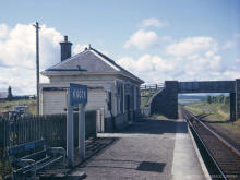 Knock station looking south to Cairnie Junction in the early 60's, note the flat bottomed rail here compared to the more typical bullhead and loss of the down track and platform.