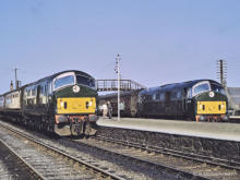 D6149 and D6152 at Maud with the 3.15 ex Fraserburgh and 3.20 ex Peterhead respectively on 1 May 1965,