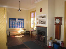 Oldmeldrum Station building interior, as re-erected
