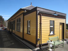 Oldmeldrum Station building, as re-erected