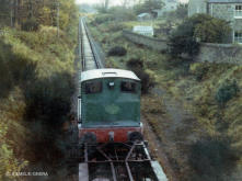 Arnott Youngs demoltion train heads towards Murtle Station
