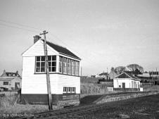 Oldmeldrum signal box and station buildings Mar 1964