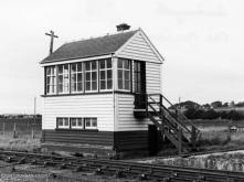 Oldmeldrum Box in 1959, the last passenger service was signalled away on 2 Nov 1961