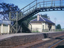 Oyne station looking towards Aberdeen in the early 60's