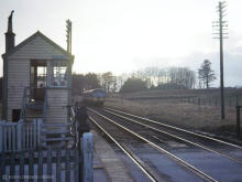 The last service to run from Ballater during daylight hours arrives at Park on 26 Feb 1966