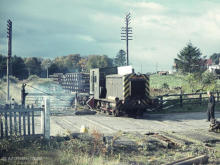 Demolition train at Park level crossing Oct 1970