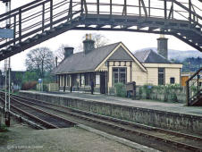 A lovely shot of Rothes Station looking south on 27 May 1968, the closure notice is being read