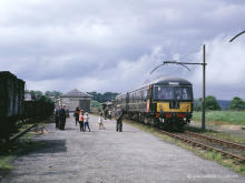 The Macduff line no longer went further than Turriff where the BLS special is seen on 5 May 1965.  This area is now a caravan site
